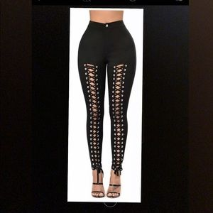 Pants - NEW Sexy Front Lace Up High Waisted Slim Fit Pants
